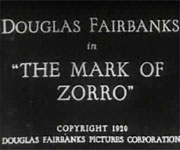 Mark of Zorro (1920)